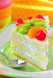 Fruit cookie slice Stock Image
