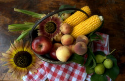 Fruit and corn Stock Image