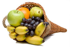 Fruit Cornucopia Royalty Free Stock Photography