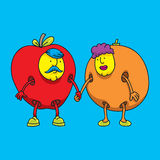 Fruit Costume Couple Stock Image