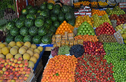 Fruit counter Stock Photos