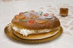 Fruit cream pie Royalty Free Stock Photography
