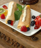 Fruit crepes Stock Photography