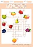 Fruit cross word concept vector illustration