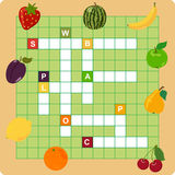 Fruit crossword. Words game for children Royalty Free Stock Images