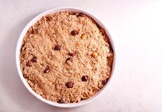 Fruit crumble cake Stock Images