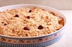 Fruit crumble cake Stock Photo