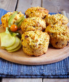 Fruit crusty muffins Royalty Free Stock Photography