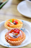 Fruit cup cake Stock Photography