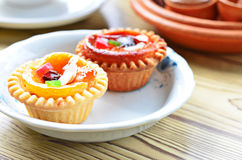 Fruit cup cake Stock Photo