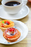Fruit cup cake Royalty Free Stock Images