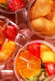 Fruit in a Cup on Ice Stock Image
