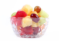 Fruit cup - isolated. Over white background Royalty Free Stock Image