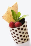 Fruit Cup With Mint Leaves Royalty Free Stock Photo