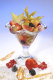 Fruit cup of southern fruits Stock Image