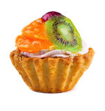 Fruit cupcake Stock Photo