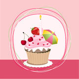 Fruit cupcake Royalty Free Stock Photo