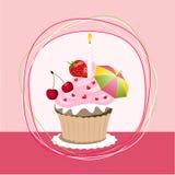 Fruit cupcake Royalty Free Stock Photo