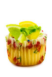 Fruit cupcake Royalty Free Stock Images