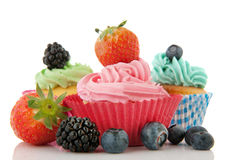 Fruit cupcakes Royalty Free Stock Image