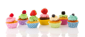 Fruit cupcakes Royalty Free Stock Photos