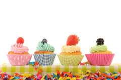 Fruit cupcakes Stock Image