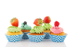 Fruit cupcakes Royalty Free Stock Photos