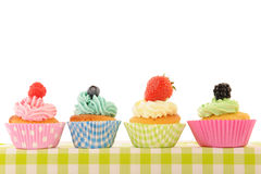 Fruit cupcakes Royalty Free Stock Images