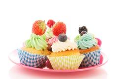 Fruit cupcakes Stock Photography