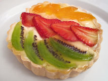 Fruit Custard Tart Royalty Free Stock Image