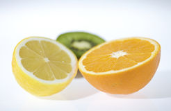 Fruit cut stock photo