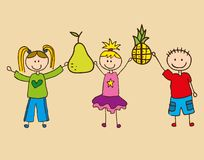Fruit cute design Royalty Free Stock Photography