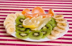 Fruit cutting Stock Images