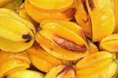 Fruit d'étoile putréfié (carambolier) image stock