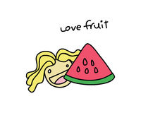 Fruit 1 d'amour Photo libre de droits