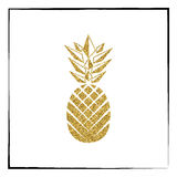 Fruit d'ananas d'or Illustration de vecteur Illustration Stock