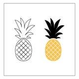 Fruit d'ananas Illustration de vecteur Images stock