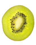 Fruit d'isolement sur le blanc, un kiwi images stock
