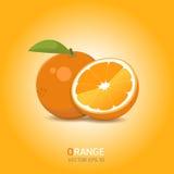 Fruit d'orange de vecteur photo stock