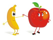 Fruit dance Royalty Free Stock Images
