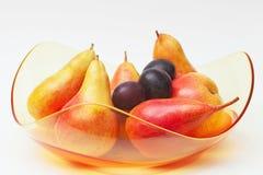Fruit dans la cuvette en verre Image libre de droits