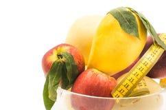 Fruit dans un vase en cristal Photographie stock