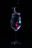 Fruit dans un verre de l'eau Photo libre de droits