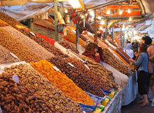 Fruit and date stall in Marrakech Medina Stock Photos