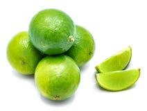 Fruit de chaux d'isolement sur le blanc Photos stock