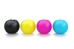 Fruit de CMYK Apple Photographie stock