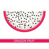 Fruit de dragon d'isolement sur le blanc Image stock