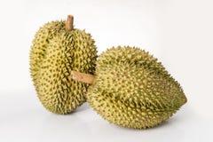 Fruit de Durain sur le fond blanc Photographie stock