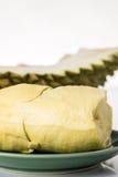 Fruit de Durain sur le fond blanc Image stock