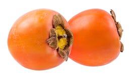 Fruit de kaki d'isolement sur le blanc Images stock